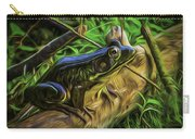 Green Frog On A Brown Log Carry-all Pouch