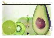 Green Fruits Watercolor Carry-all Pouch
