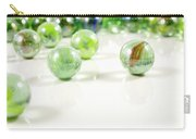 Green Glass Marbles Close-up Views Carry-all Pouch