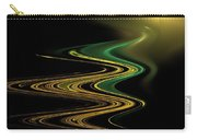 Green Gold Waves Carry-all Pouch