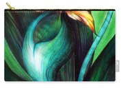 Green Golden Exotic Orchid Flower Carry-all Pouch