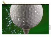 Green Golf Ball Splash Carry-all Pouch