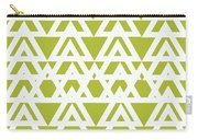Green Graphic Diamond Pattern Carry-all Pouch