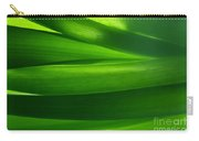 Green Grass Background In Backlight Carry-all Pouch