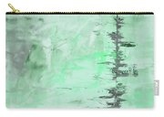 Green Gray Abstract Carry-all Pouch