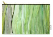 Green Gray Organic Abstract Art For Interior Decor Vi Carry-all Pouch
