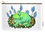 Green Happy Frog Carry-all Pouch