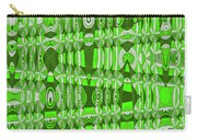 Green Heavy Screen Abstract Carry-all Pouch