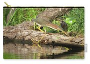 Green Heron Fishing 2 Carry-all Pouch