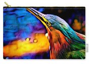 Green Heron In Dramatic Hues Carry-all Pouch