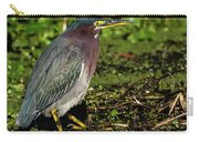 Green Heron In Swampy Water Carry-all Pouch