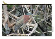 Green Heron On A Branch Carry-all Pouch