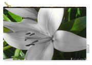 Green Highlighted Lily Carry-all Pouch