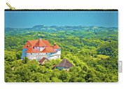 Green Hills Of Zagorje Region And Veliki Tabor Castle View Carry-all Pouch