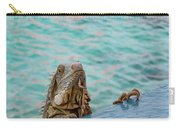 Green Iguana Peering Over Wall Carry-all Pouch