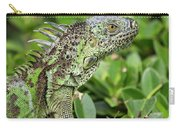 Green Iguana Vertical Carry-all Pouch