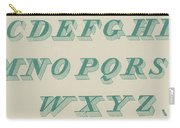Green Italic Font Carry-all Pouch