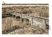 Green Lane Bridge In Sepia - Manayunk Carry-all Pouch
