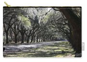 Green Lane With Live Oaks - Black Framing Carry-all Pouch