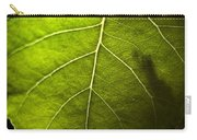 Green Leaf Detail Carry-all Pouch