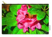 Green Leafs Of Pink Carry-all Pouch