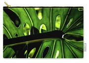 Green Leave With Holes Carry-all Pouch