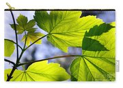 Green Leaves Carry-all Pouch by Carlos Caetano