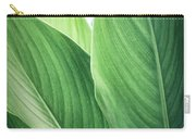 Green Leaves No. 2 Carry-all Pouch by Todd Blanchard