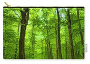 Green Light Harmony - Walking Through The Summer Forest Carry-all Pouch