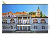 Green Ljubljanica Riverfront In Ljubljana Carry-all Pouch