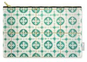 Green Lucky Charm Lisbon Tiles Carry-all Pouch