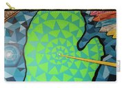 Green Map Of Michigan With And Arrow Pointing To Lansing Michiga Carry-all Pouch
