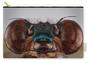 Green Metalwing Damselfly 4x Carry-all Pouch