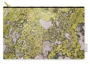 Green Moss On Rock Pattern Carry-all Pouch
