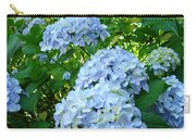 Green Nature Landscape Art Prints Blue Hydrangeas Flowers Carry-all Pouch