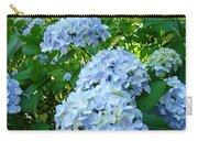 Green Nature Landscape Art Prints Blue Hydrangeas Flowers Carry-all Pouch