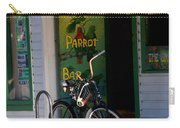 Green Parrot Bar Key West Carry-all Pouch by Susanne Van Hulst