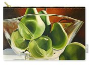 Green Pears In Glass Bowl Carry-all Pouch