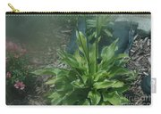Green Plant And Pink Flowers  Carry-all Pouch