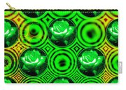 Green Polka Dot Roses Fractal Carry-all Pouch