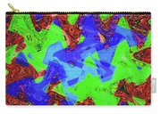 Green Red And Blue Melody Panel Abstract Carry-all Pouch