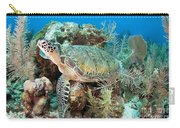 Green Sea Turtle On Caribbean Reef Carry-all Pouch