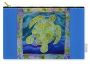 Green Sea Turtle Silk Painting Carry-all Pouch
