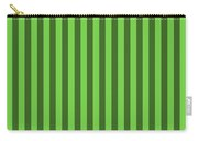 Green Striped Pattern Design Carry-all Pouch