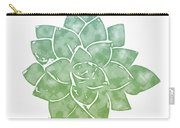 Green Succulent 1- Art By Linda Woods Carry-all Pouch by Linda Woods