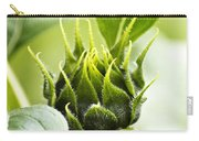 Green Sunflower Bud Carry-all Pouch