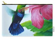 Green-throated Carib And Pink Hibiscus Carry-all Pouch
