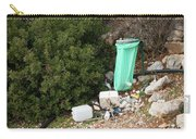 Green Trash Bag And Rubbish In Croatia Carry-all Pouch