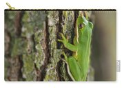 Green Tree Frog Thinking Carry-all Pouch