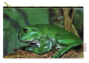 Green Tree Frog With A Smile Carry-all Pouch